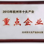 2013 Hangzhou Top 10 Key Enterprises